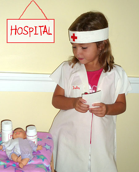 homemade nurse costume