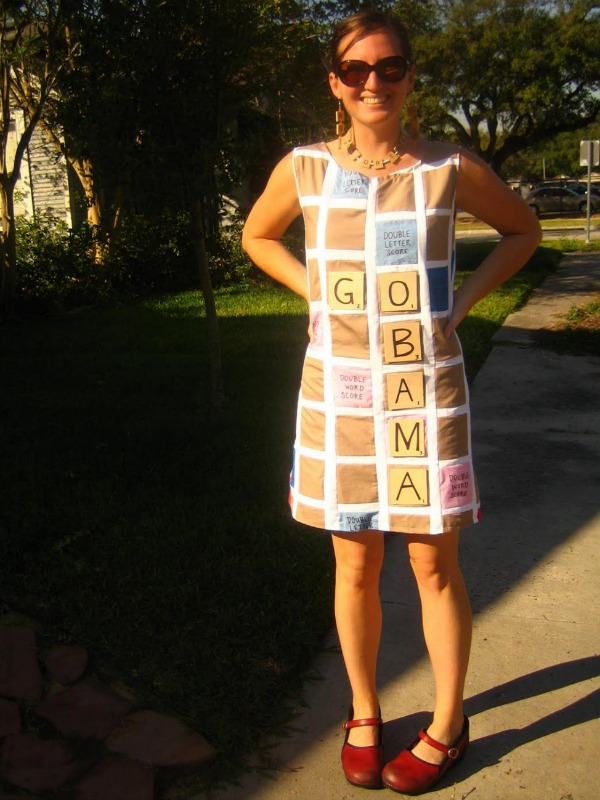DIY scrabble costume