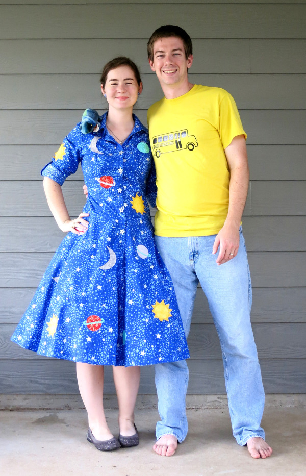 Clever DIY couple costume
