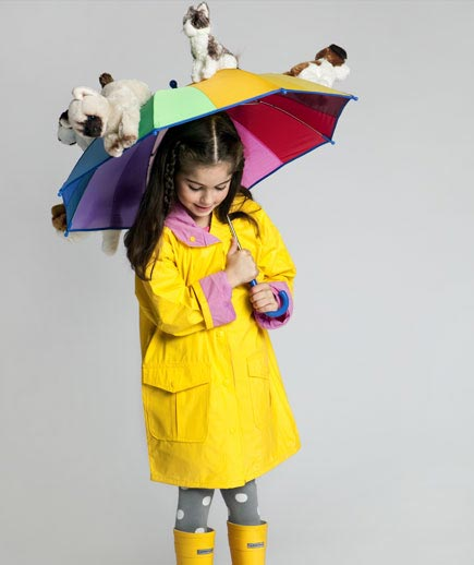 DIY raining cats and dogs costume