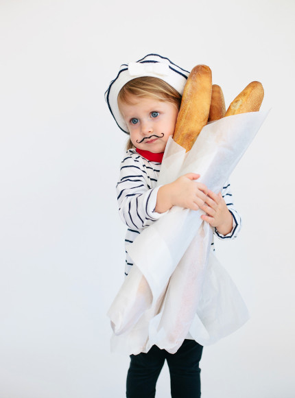DIY french baker costume