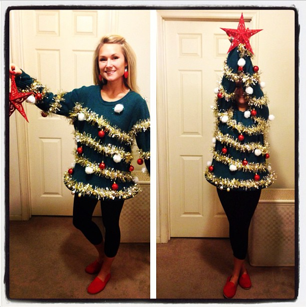 Adults Diy Ugly Christmas Tree Sweater Really Awesome