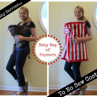 DIY Bag of Popcorn costume