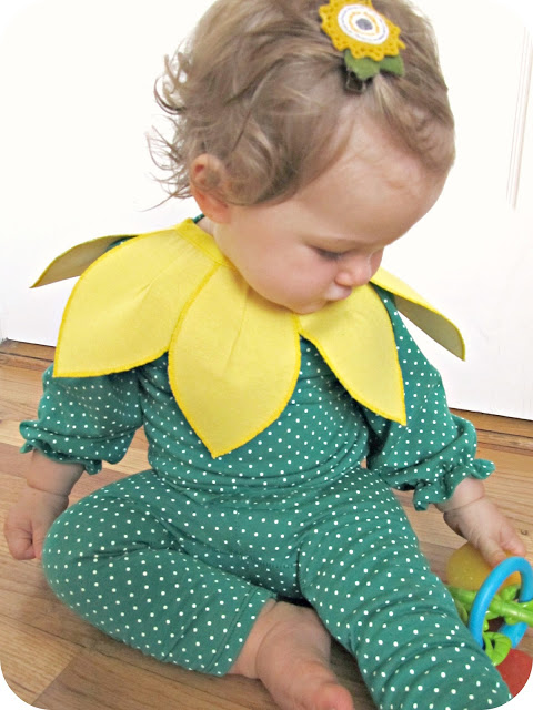 DIY Sunflower costume