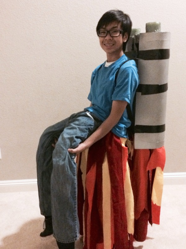 DIY Jet pack costume