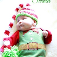 Baby ugly sweater DIY
