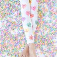 DIY Conversation Heart Leggings