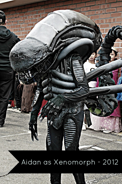 handmade alien halloween costume