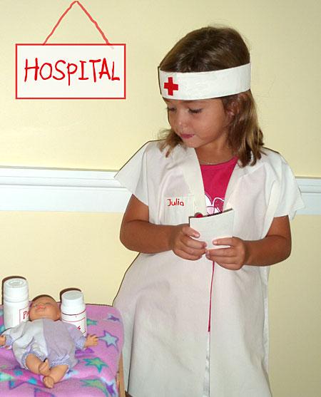 e9f46902cf4b8 KIDS: Homemade Nurse Costume - Really Awesome Costumes