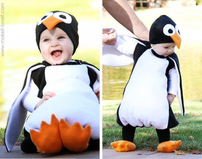 DIY Penguin costume