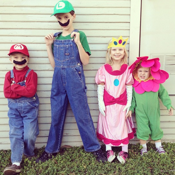 handmade mario and luigi costumes