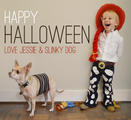 DIY jesse and Slinky dog costumes