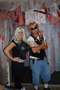 DIY Dog the Bounty Hunter and wife costume