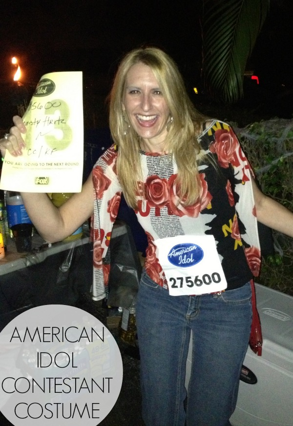 DIY American Idol contestant costume