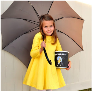 DIY morton salt lady costume