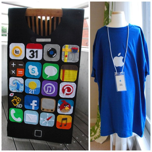 iPhone and Apple Genius costume