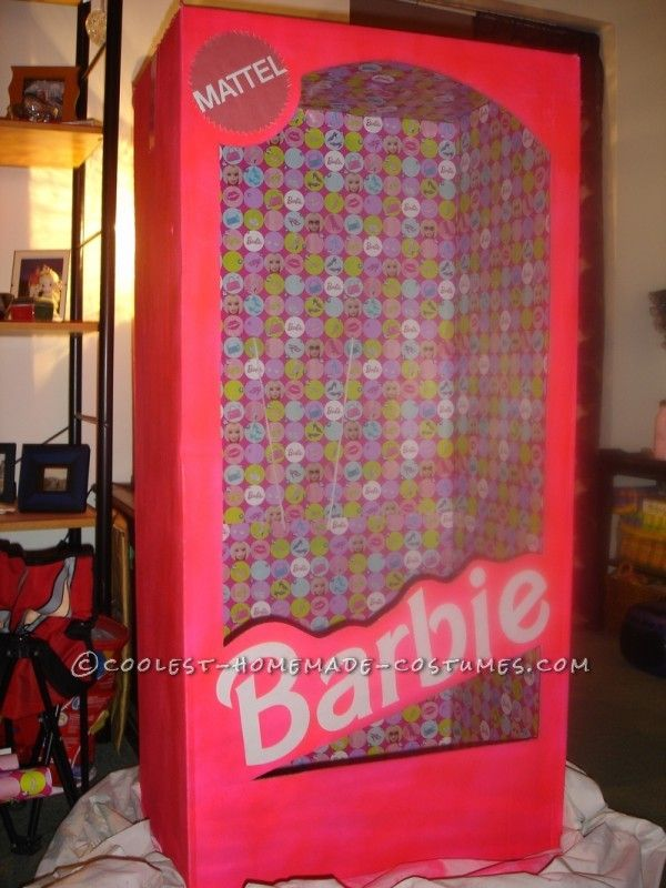 DIY Barbie box costume