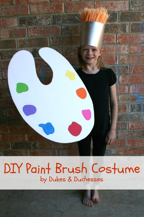 DIY paint brush costume