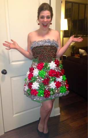 diy ugly christmas dress