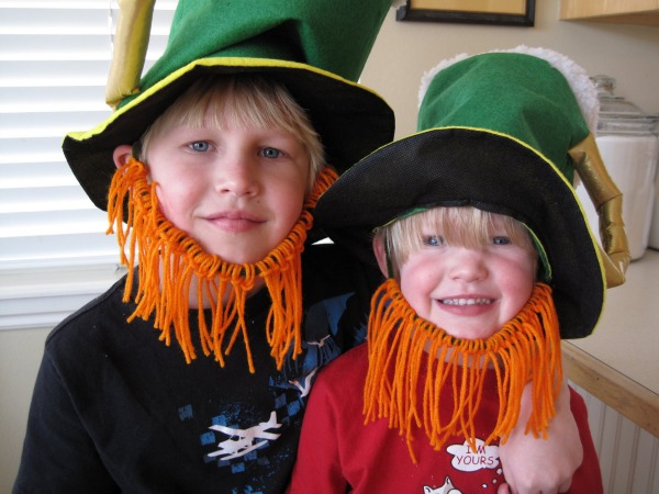 DIY Leprechaun beards