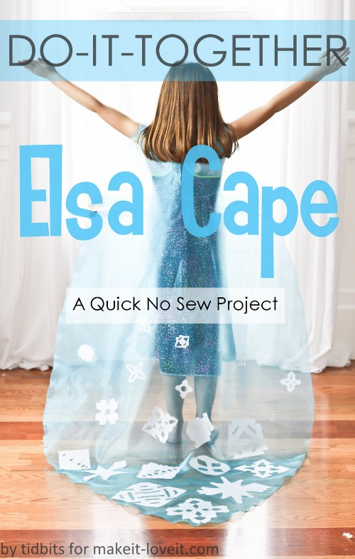 DIY Frozen Princess cape