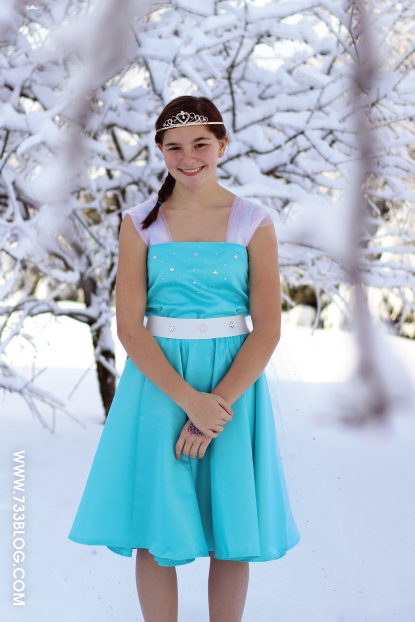 DIY Frozen princess costume