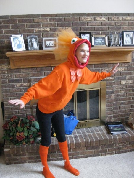 DIY goldfish costume